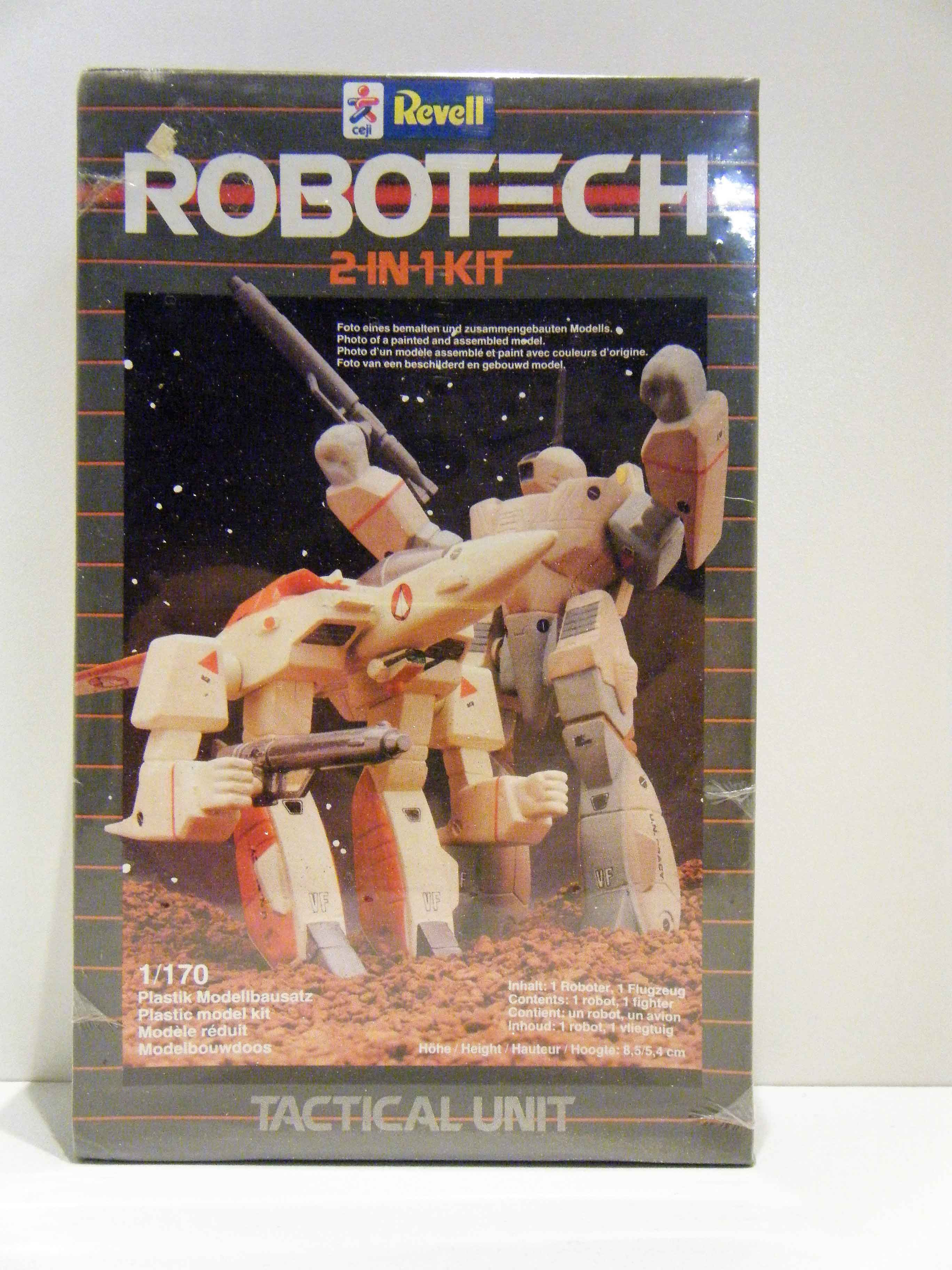 Revell 1984 Robotech 2 In 1 Kit 1136 Tactical Unit Mib 1170 Scale
